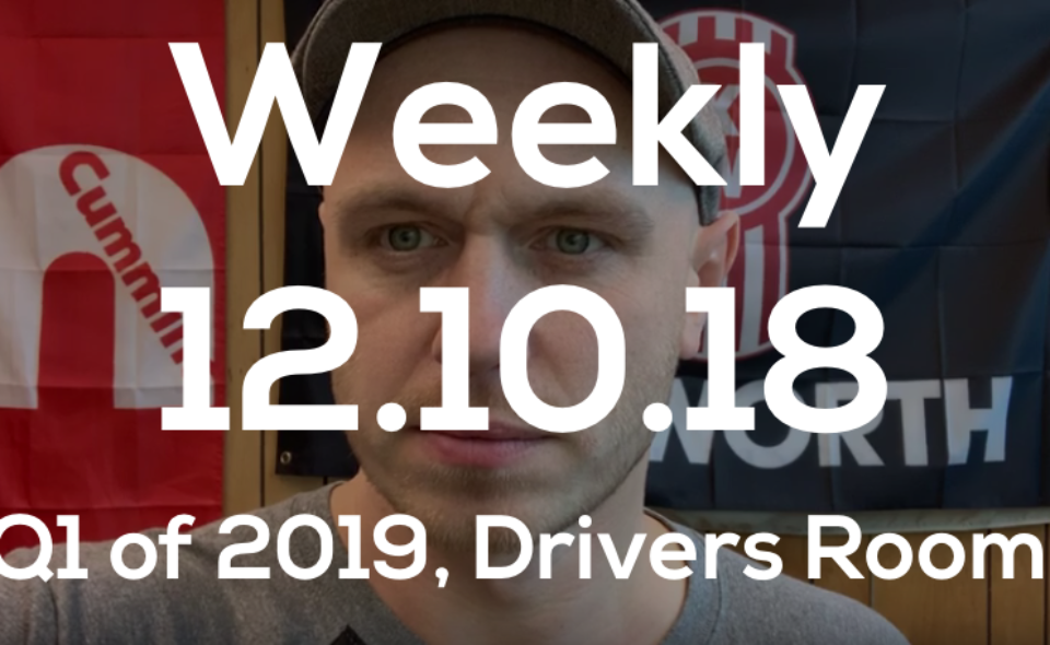 Weekly 12.10.19 Q1 of 2019, Drivers Room