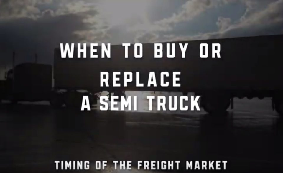 When to buy or replace a semi truck